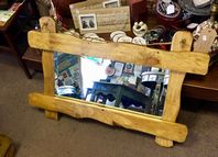 Handcrafted Rustic Reclaimed Oak Mirror
